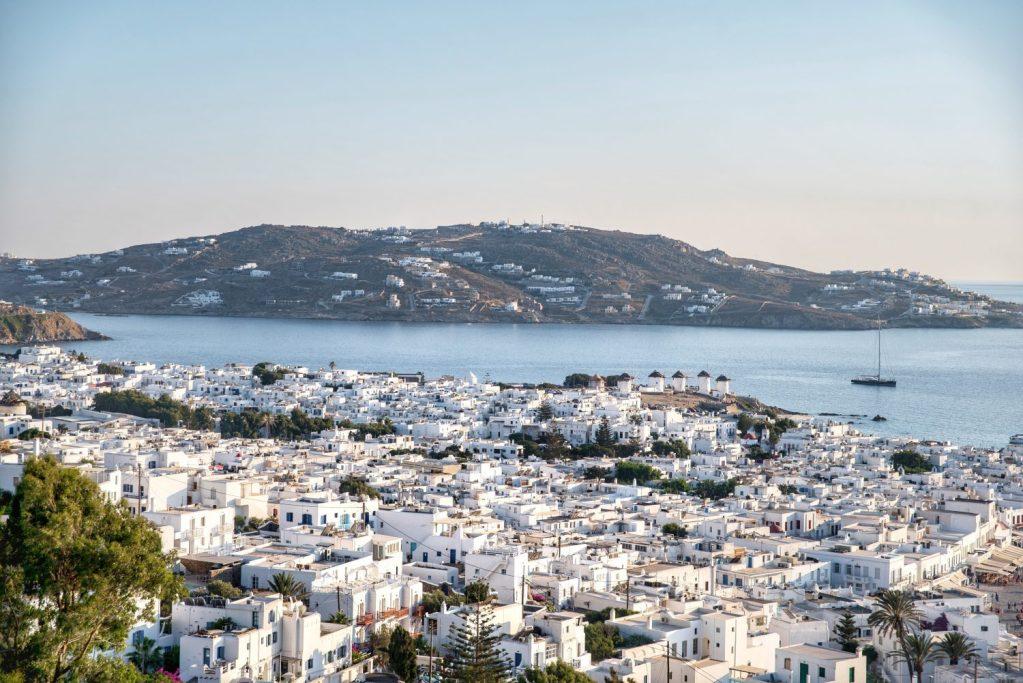 Grèce | Ville de Mykonos vue de haut