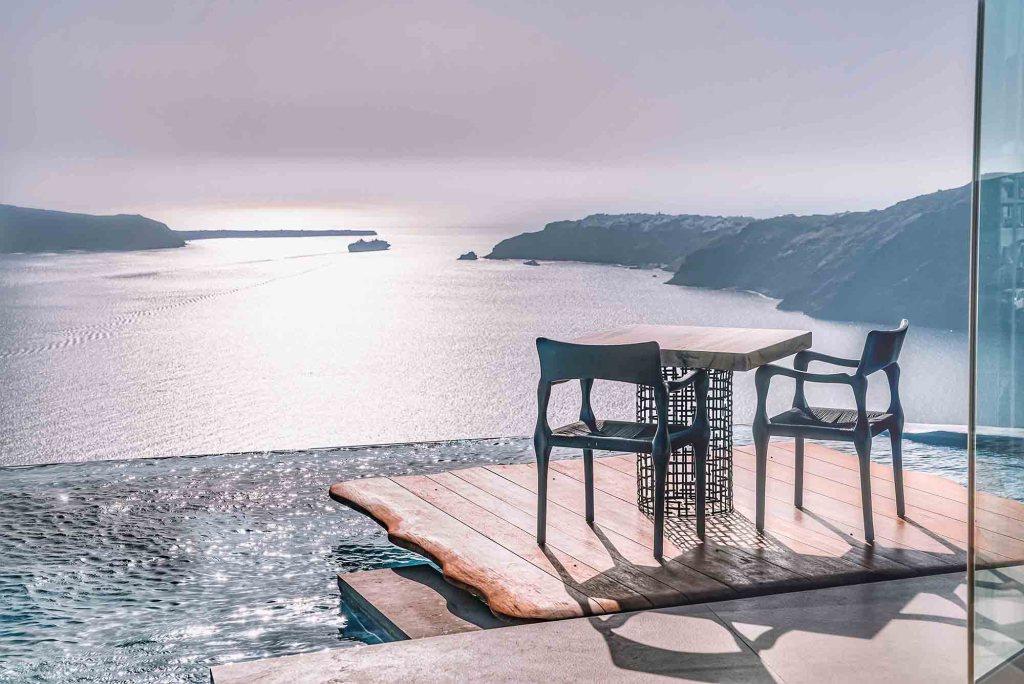 Cavo Tagoo Santorin - Diner avec vue mer
