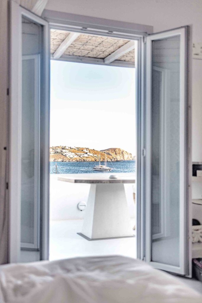 Katikies Hôtel | Vue fenêtre sur Terrasse avec mer