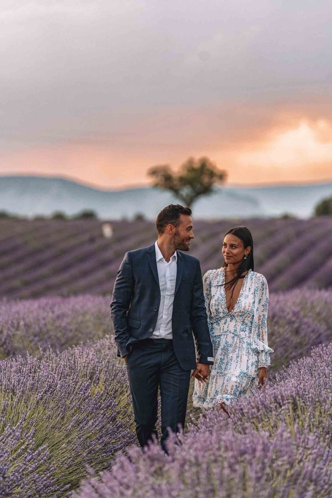 Valensole - Champs de lavande - Photos couple