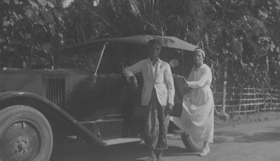 My Aunt Jant with a local driver. Aunt Jant did not survive the concentration camp.