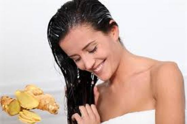 Gừng rất có ích-giúp tóc chắc khỏe và giảm gãy rụng.