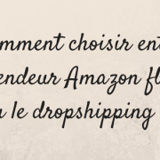 Comment choisir entre vendeur Amazon fba ou dropshipping ?