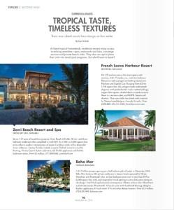 Zemi Beach inside Modern Luxury Interiors