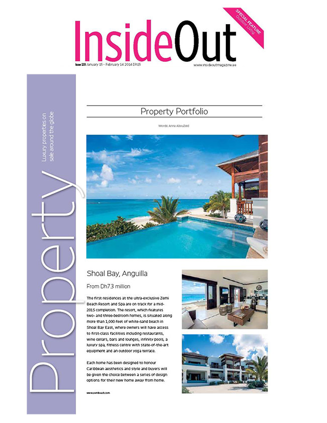 Zemi Beach inside Inside Out Magazine