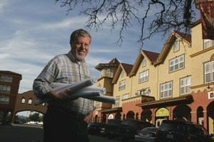 Orrin during his heyday designing and building Town Green Village in Windsor