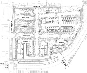 Forestville Square site plan by Orrin Thiessen