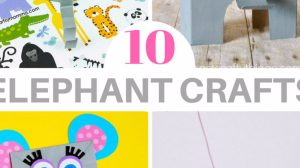 10 Elephant Crafts for Kids