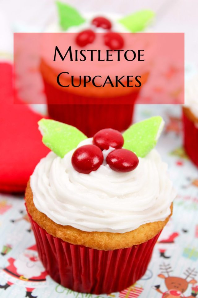 Holidays are in full force and so are planning your treats! These Mistletoe Cupcakes are perfect for your upcoming celebrations and are easy to make.