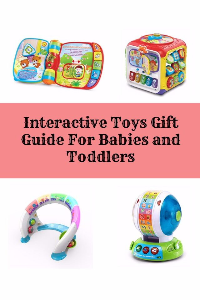 It is gift guide time! Here are some great ideas for interactive toys for babies and toddlers whether for thier birthday or christmas.