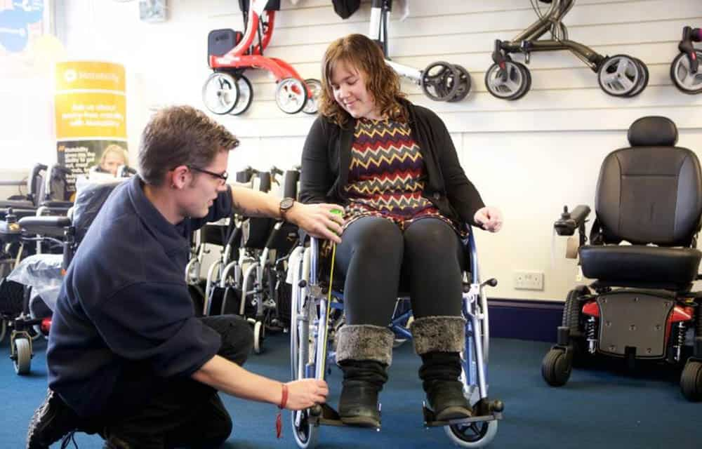 AJM Mobility showroom wheelchair services