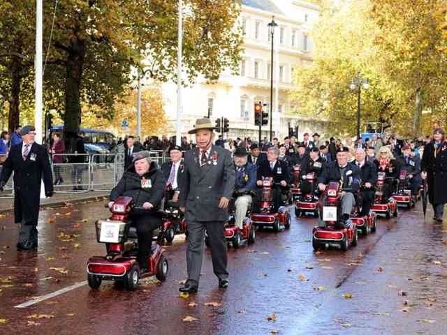 Electric Mobility supports charity with delivery of 20 scooters for Remembrance Parade