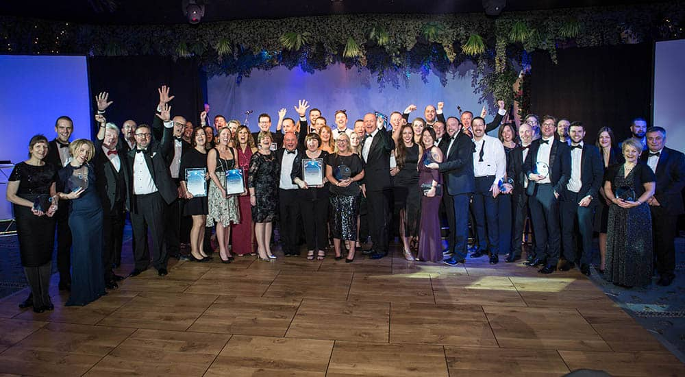 All BHTA Award winners at the Alton Towers hotel