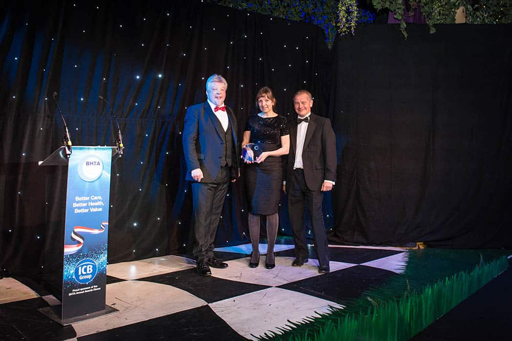 BHTA Award night, Island Mobility's Gillian wins award
