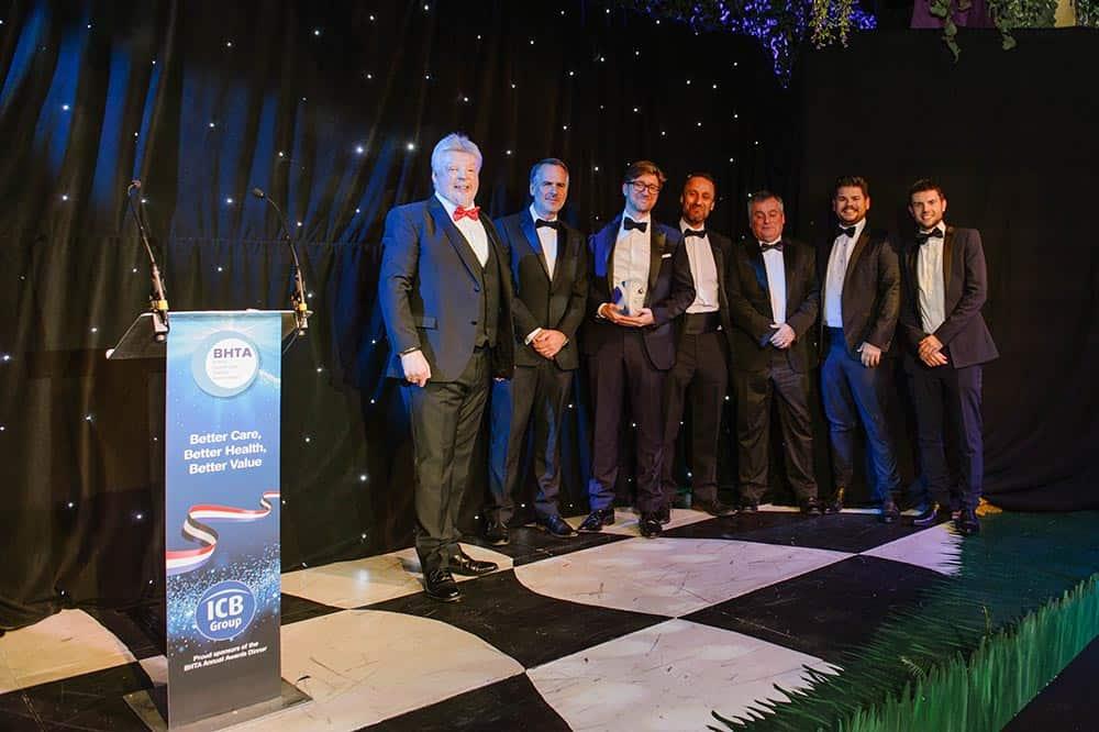 BHTA Awards 2018 TGA Mobility team accepting award