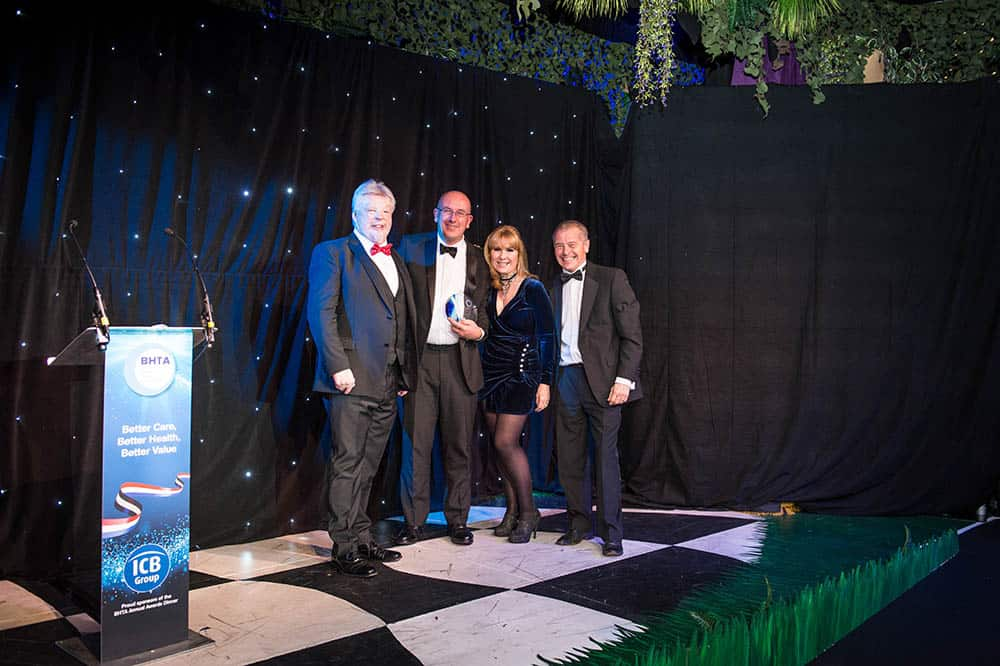 BHTA Awards night, won by TPG DisableAids