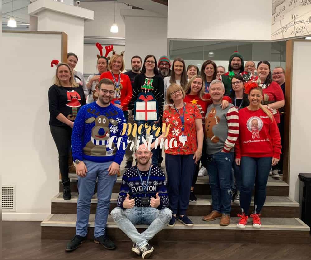 Bullens team Christmas Jumper Save the Children