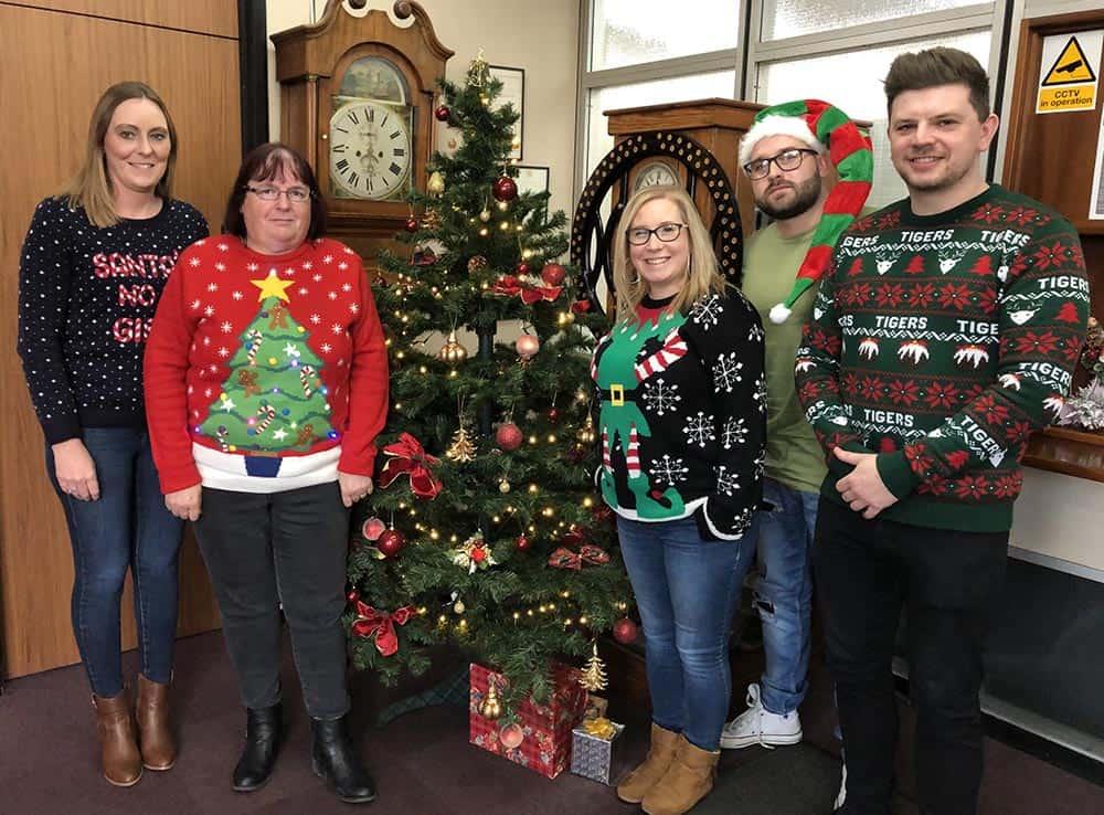 Gordon Ellis team Christmas Jumper Save the Children