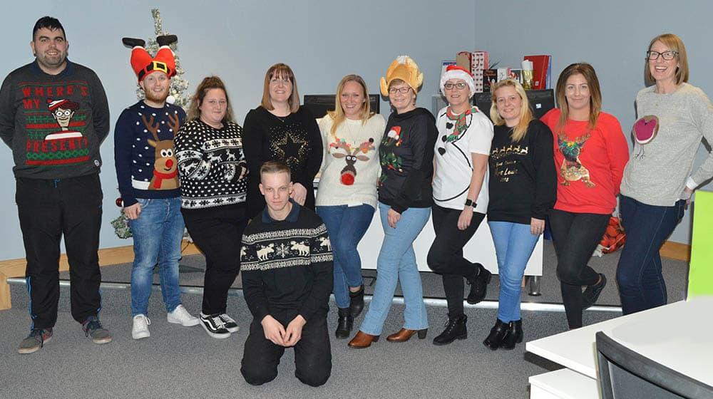 SP Staff Christmas Jumper team shot