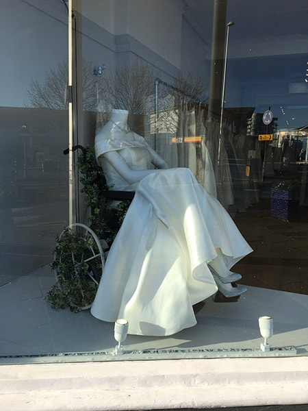 The White Collection Bridal Boutique shop window image