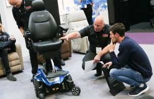 Pride powerchair being assessed