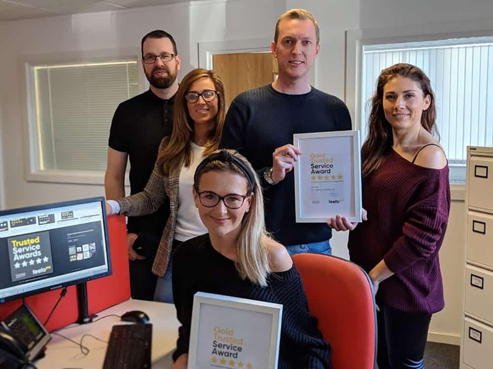 Handicare Feefo Trusted Service award 2019 image