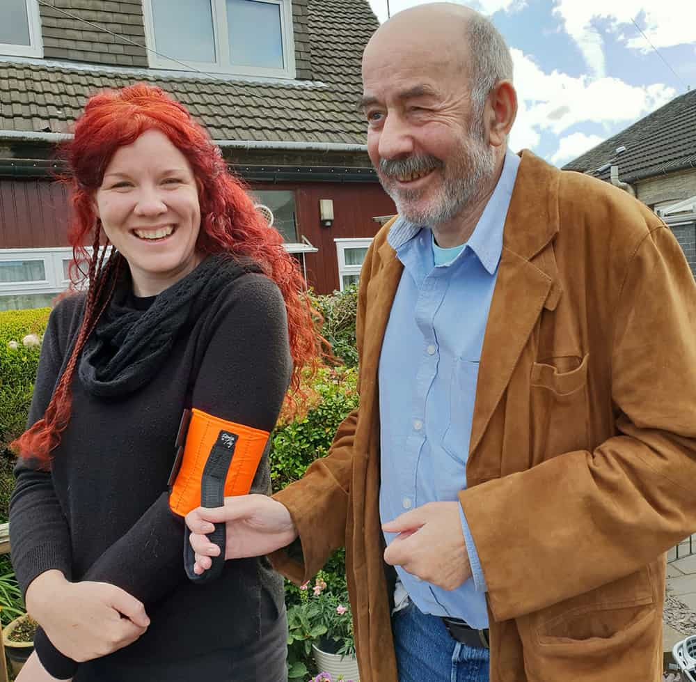 Laura Maclean and Tom Forsyth with their Ramble Tag invention image