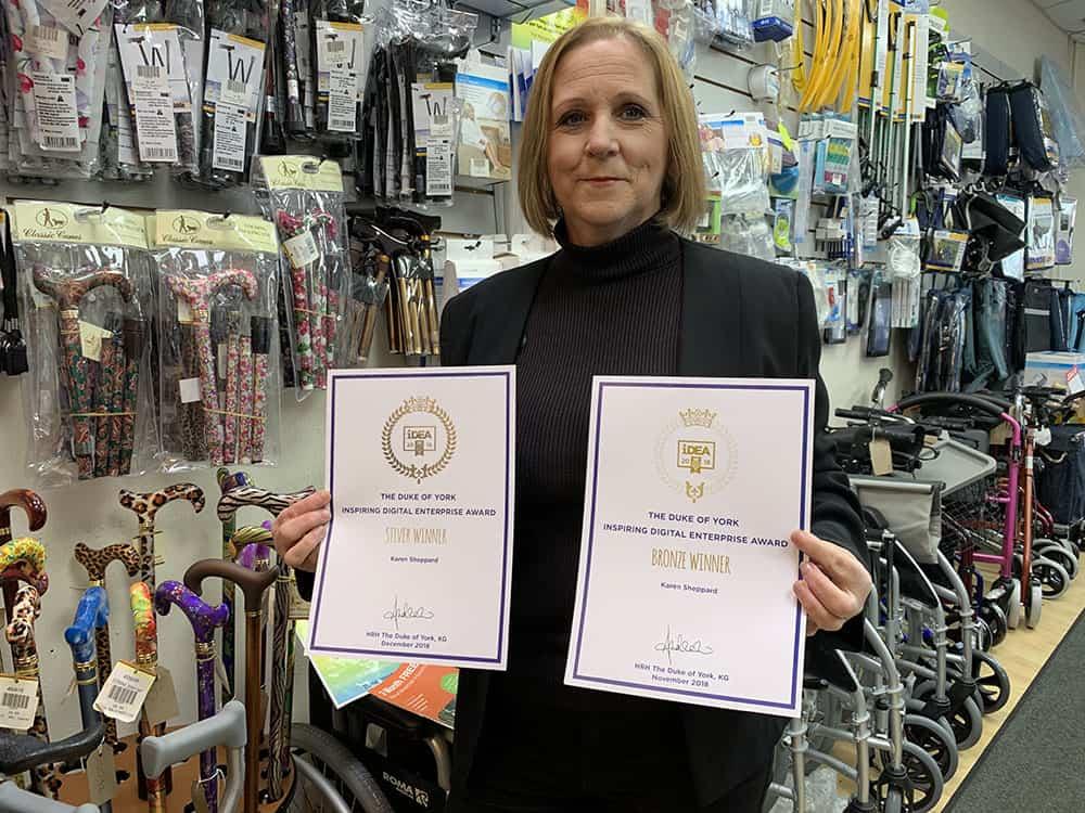 Karen Sheppard with her iDEA award image