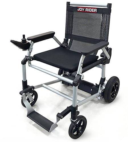 The Joyride powerchair in black for THIIS retailers' guide to Naidex 2019