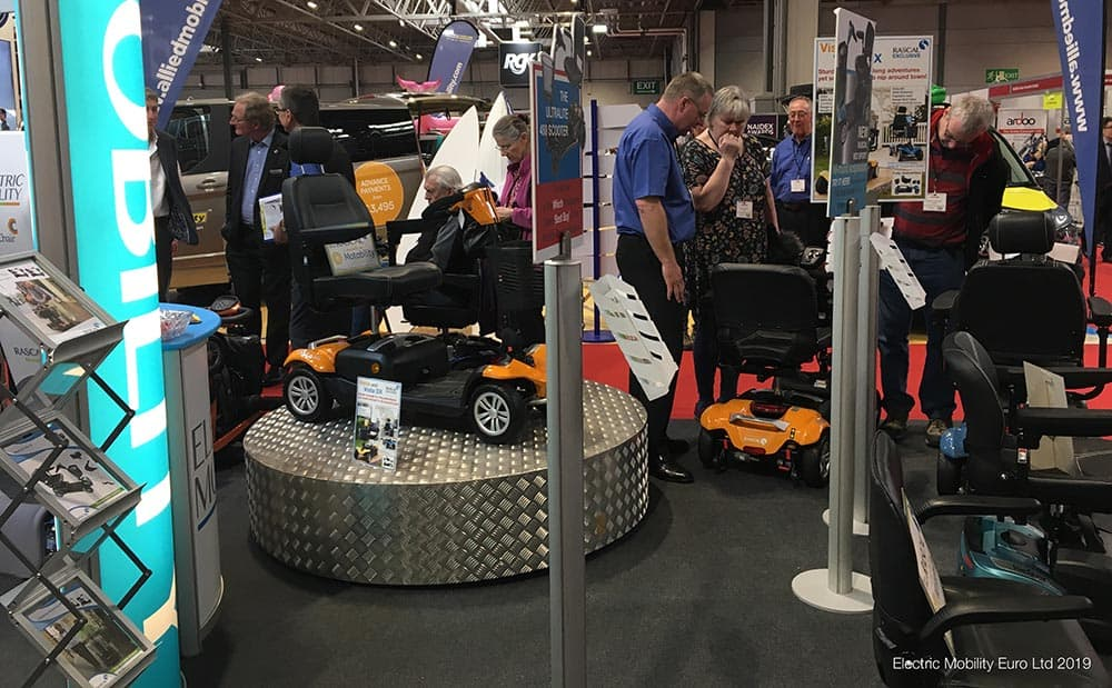 Electric Mobility's Naidex 2019 Stand