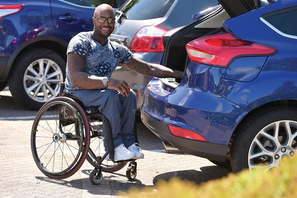 Motability customer wheelchair lightweight