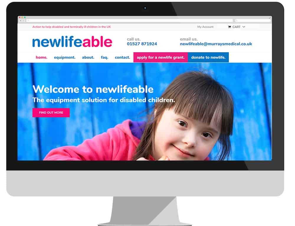 Newlifeable recycling website new by Murrays Medical