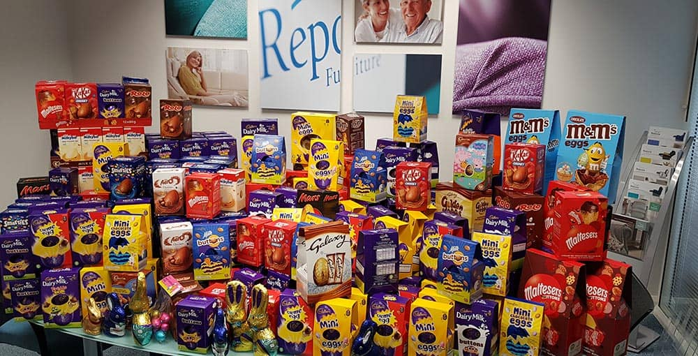 Repose mountain of easter eggs following fundraising initiative