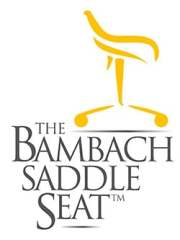 The Bambach Saddle Seat logo in white