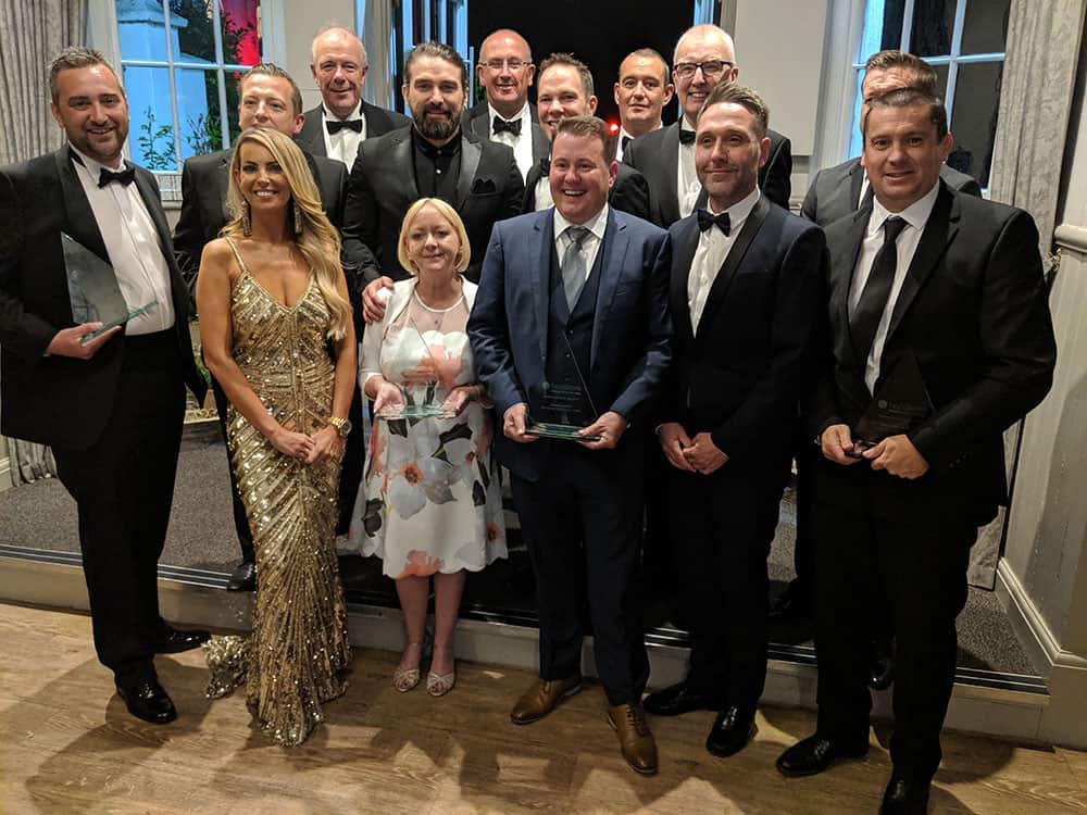 Handicare Awards 2019 winners with Channel 4's Ant Middleton