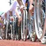 World record wheelchair moving line Photo