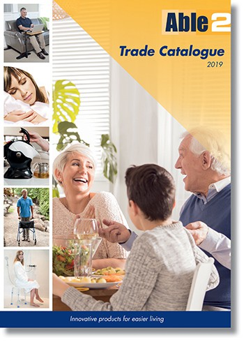 Able2 new, largest-ever trade catalogue front page