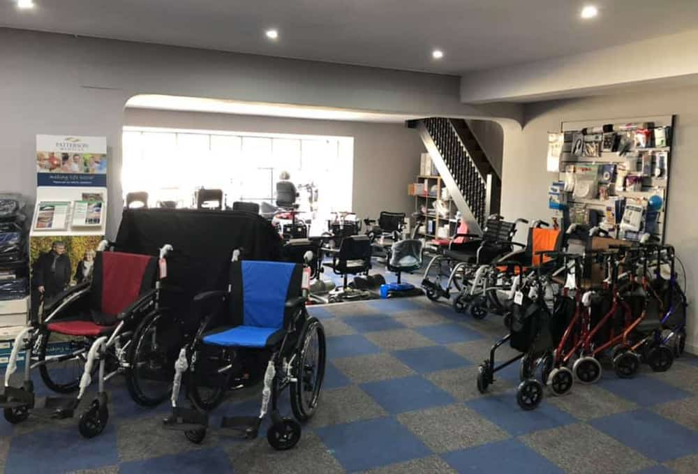 Mobility Scooters UK The Mobility Shop Ferndown Showrrom with scooters and wheelchairs