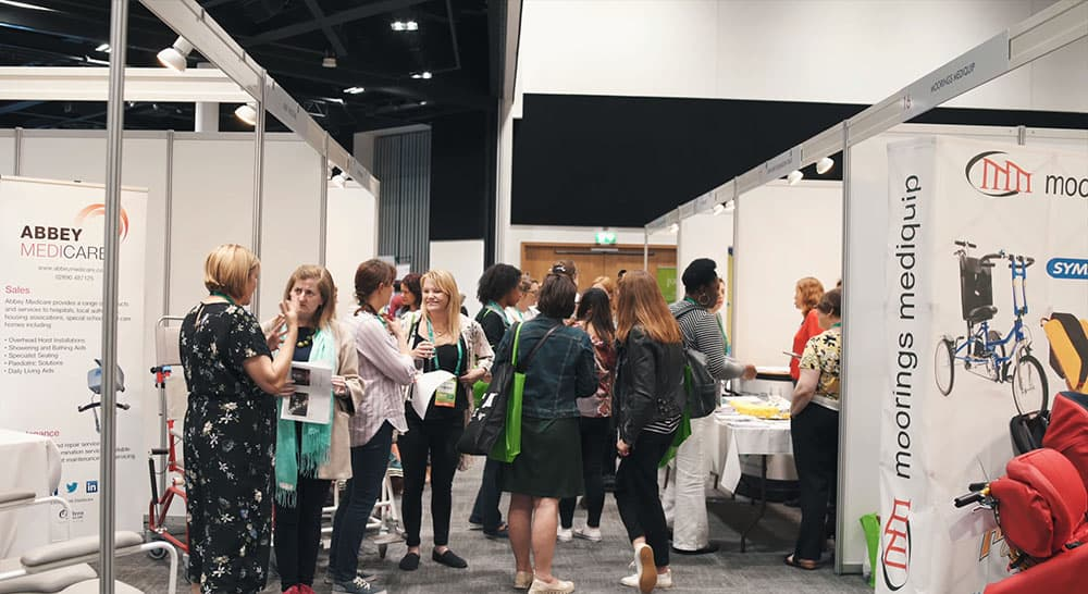 RCOT Exhition with OTs visiting supplier stands in 2018