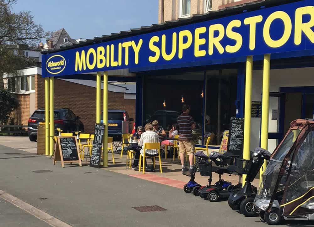 Mobility Ableworld Coffee Shop in Llandudno, North Wales branch