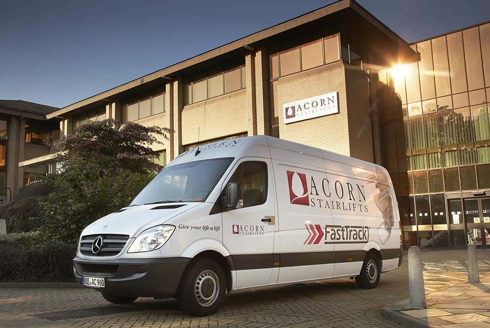 Acorn Stairlifts van outside Acorn Bradford HQ