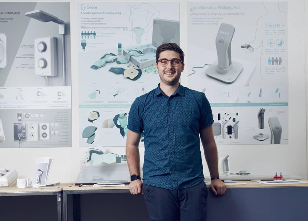 James Seal winner of Joseph Stannah Award 2019 for colostomy bag