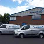 Care-Ability Healthcare van fleet and building