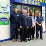 ableworld southampton team outside store