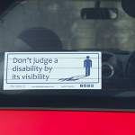 Disability Car Sticker Blue Badge