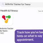Arthritis Tracker for Teens app image