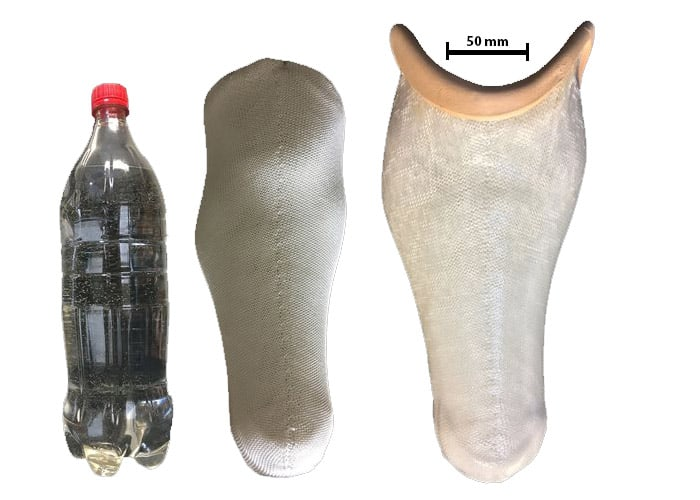 prosthetic limbs out of plastic bottles