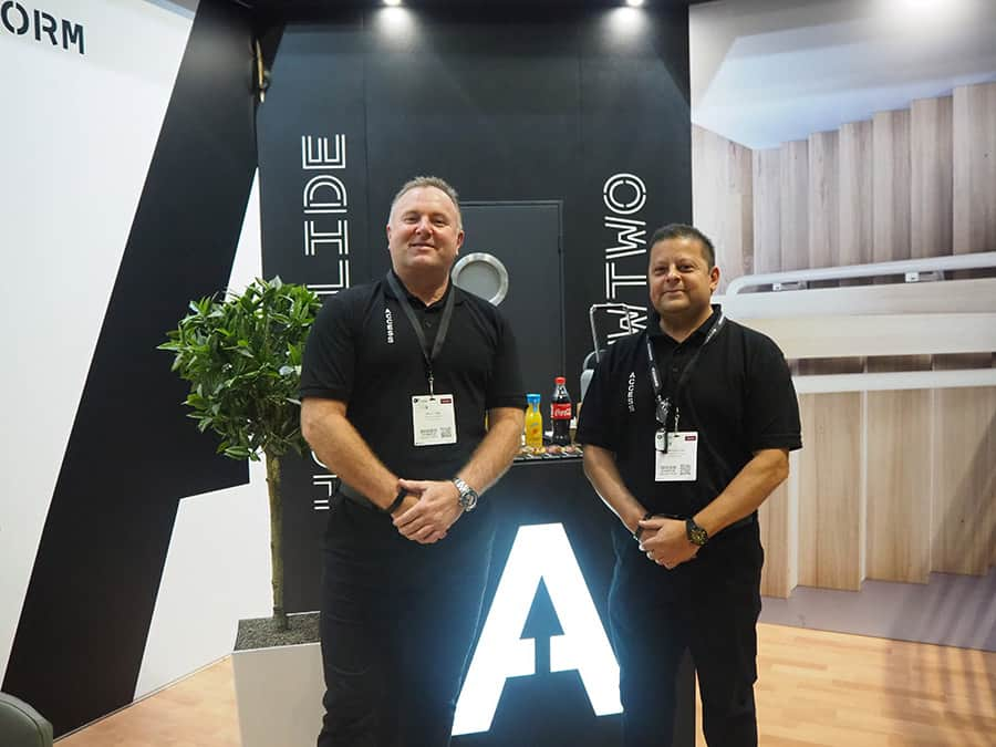 Access BDD's Sales Manager Gary Crofts and Technical Manager Anthony Dias showcasing the new brand identity at the OT Show 2019