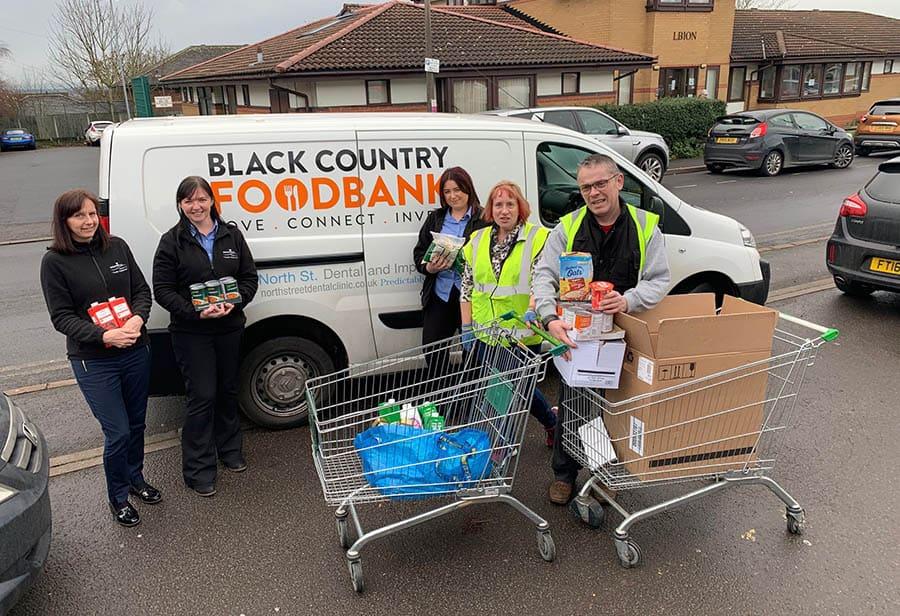 Dolphin Lifs Midlands foodbank donation