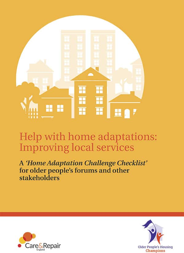 Care & Repair England housing adaptations guide image